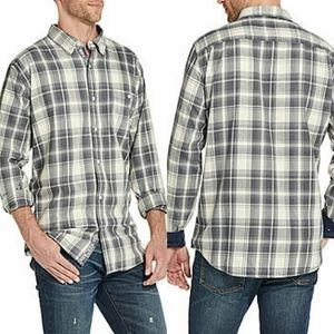 American Threads Washed Plaid Button-Down Shirt